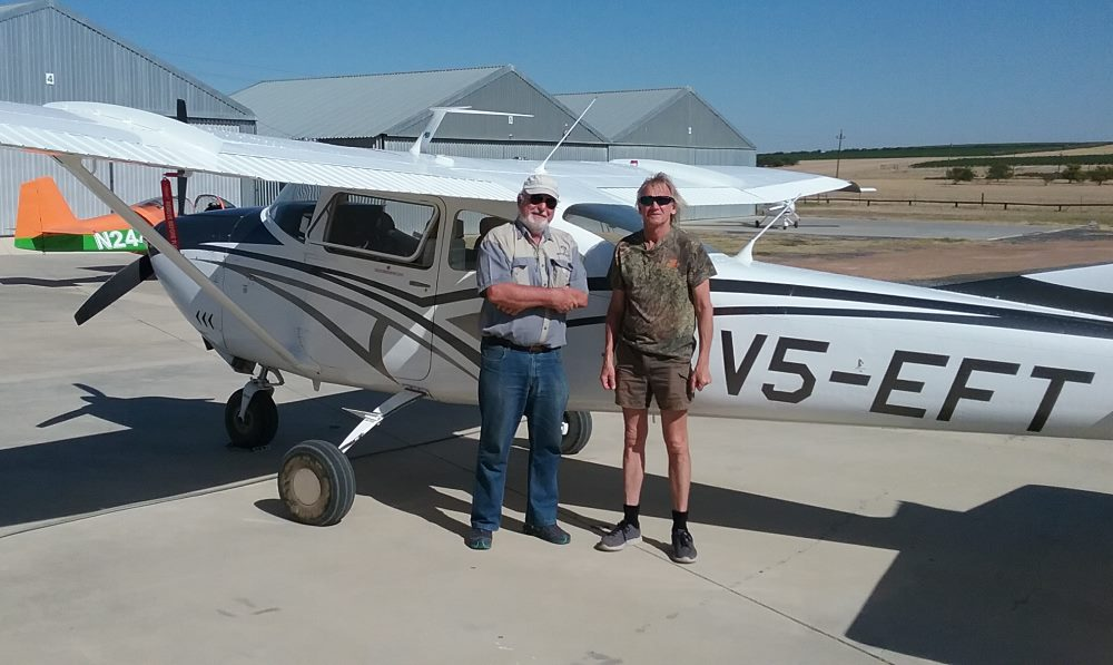Norman Green and CC Pocock. Cessna C182 300hp. Bush Air - Advanced bush and mountain flying course.