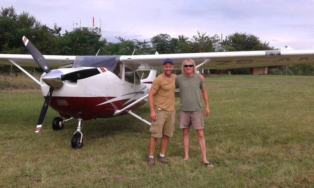 """CC"" Milne Pocock and  Mike Kennedy of  ""Airplane repo"" . Bush Air Cessna C172 bushplane trainer"